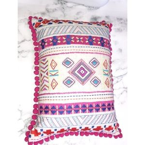 Accents - Embroidered Home Decor Throw Pillow Tassel